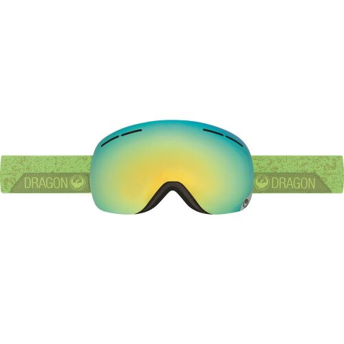 Dragon Schneebrille X1s Stone Green smoke gold ion + yellow blue ion