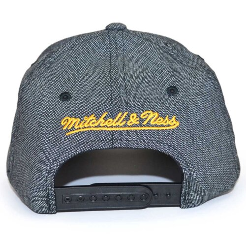 Mitchell & Ness Snapback Cap 110 Curved Stretch Melange Golden State Warriors black