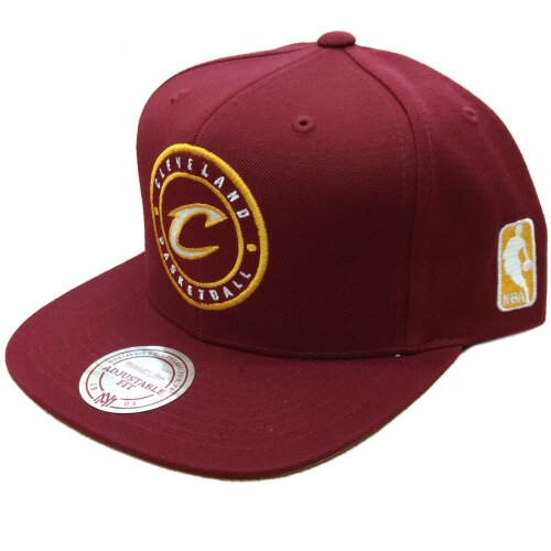 Mitchell & Ness Snapback Cleveland Cavaliers Circle Patch burgundy