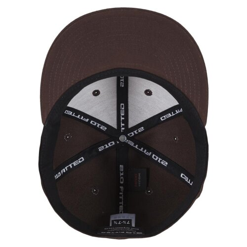 Yupoong Flexfit Premium 210 Fitted Cap brown/brown