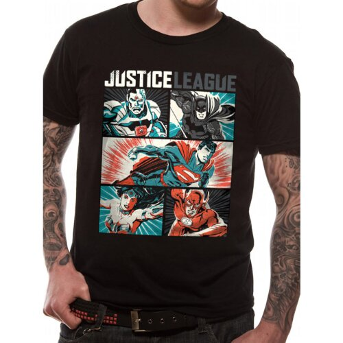 Justice League Shirt Comics Pop Art black