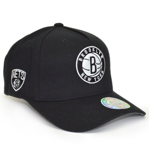 Mitchell & Ness Snapback 110 Curved Eazy Brooklyn Nets black