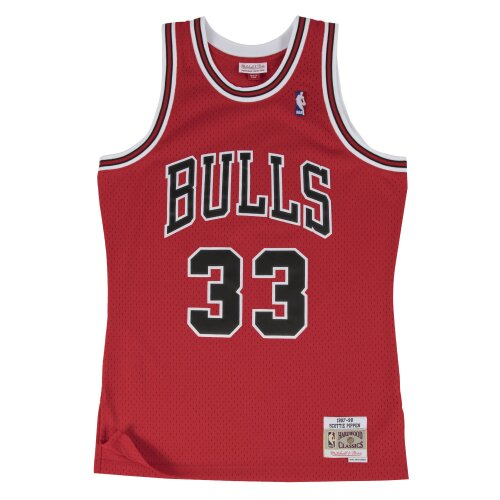 Mitchell & Ness Swingman Jersey Chicago Bulls Scotty Pippen red