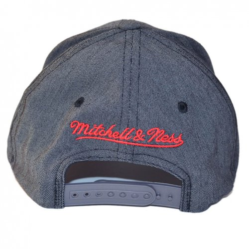Mitchell & Ness Snapback 110 Curved Poly Heringbone Chicago Bulls charcoal