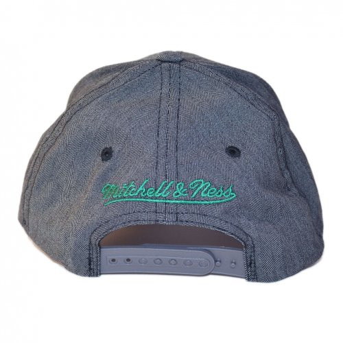Mitchell & Ness Snapback 110 Curved Poly Heringbone Boston Celtics charcoal