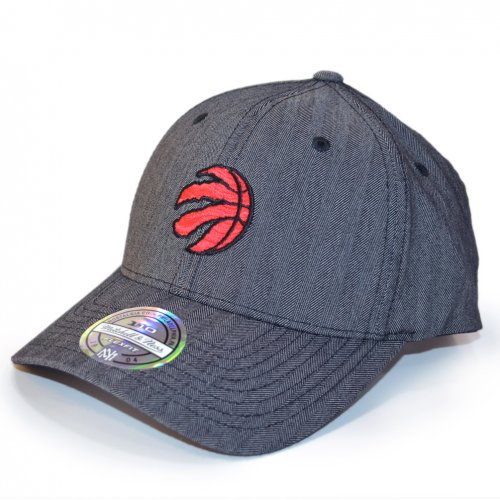 Mitchell & Ness Snapback 110 Curved Poly Heringbone Toronto Raptors charcoal