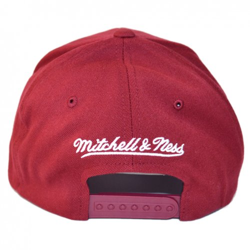 Mitchell & Ness Snapback 110 Curved the Burgundy Pinscript OB  burgundy/white