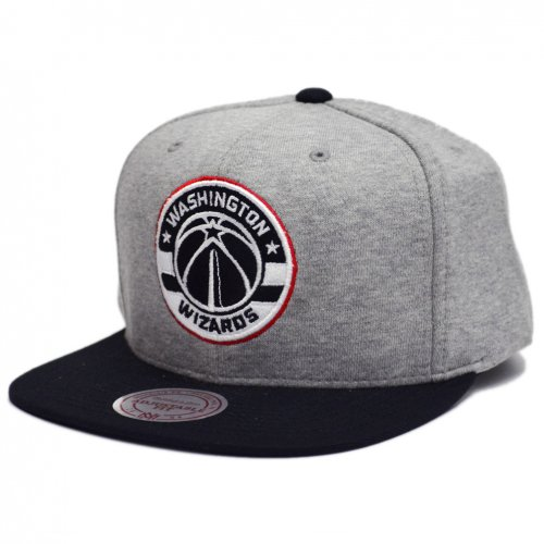 Mitchell & Ness Snapback Grey Heather Washington Wizards grey
