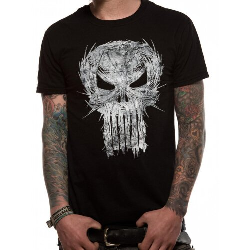 Marvel Punisher Shirt Shatter Skull