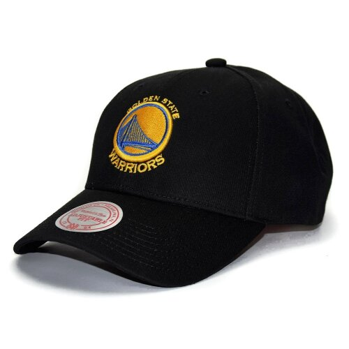 Mitchell & Ness Snapback Cap Golden State Warriors Low Pro Team Logo black