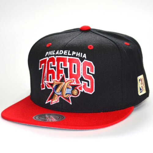 Mitchell & Ness Snapback Cap Team Arch HWC Philadelphia 76ers black/red