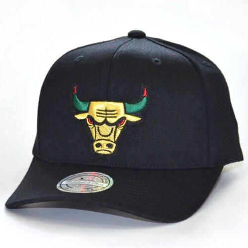 the best attitude 091ee 78f8b Mitchell   Ness Snapback Cap NBA Luxe 110 Chicago Bulls black ...