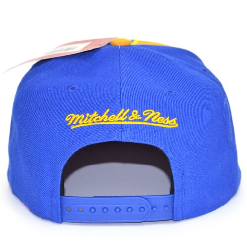 Mitchell & Ness Snapback Cap HWC Short Split Golden State Warriors royal