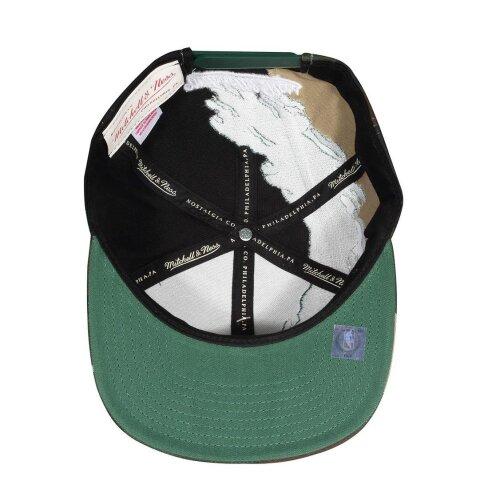 0becd83e991 ... Mitchell   Ness Snapback Cap Paintbrush Boston Celtics camo green
