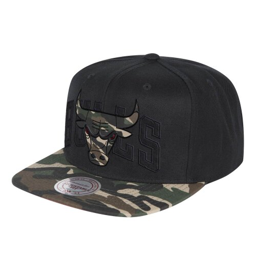 Mitchell & Ness Snapback Cap Woodland Blind Chicago Bulls black