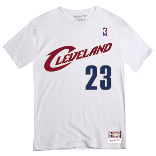 Mitchell & Ness Shirt Number Tee Cleveland Cavaliers #23 LeBron James white