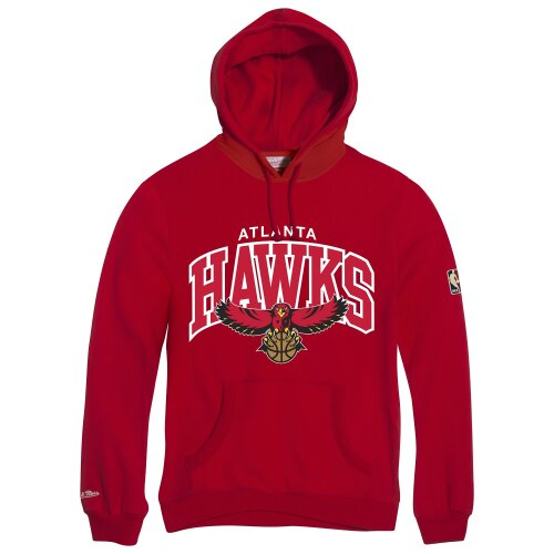 Mitchell & Ness Hoody Atlanta Hawks HWC Team Arch Logo red