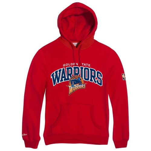Mitchell & Ness Hoody Golden State Warriors HWC Team Arch Logo red