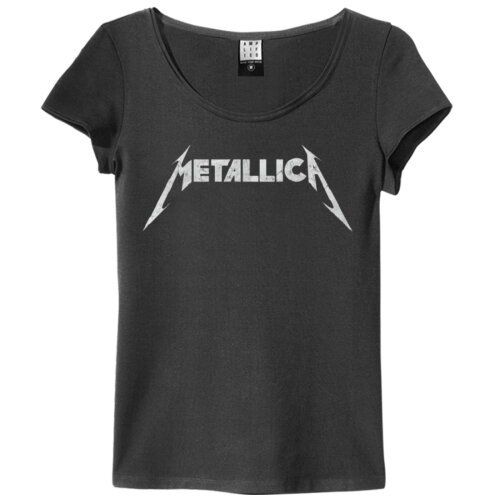 Amplified Girl Shirt Metallica Logo charcoal