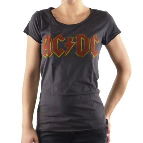Amplified Girl Shirt AC DC Logo