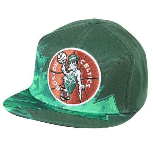 Mitchell & Ness Snapback Cap Squadra Boston Celtics green