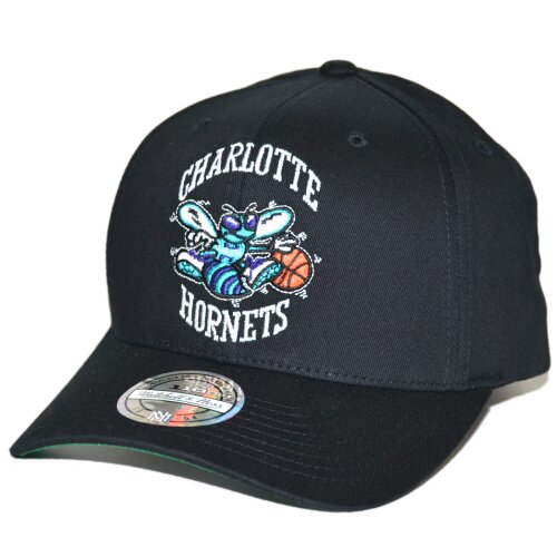 Mitchell & Ness Snapback Cap 110 Cotton High Crown Team Logo Charlotte Hornets black