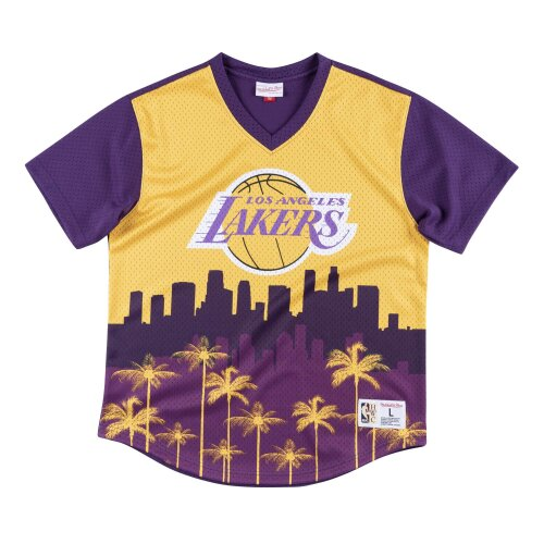 Mitchell & Ness Game Winning Shot Mesh V-Neck Los Angeles Lakers yellow/purple