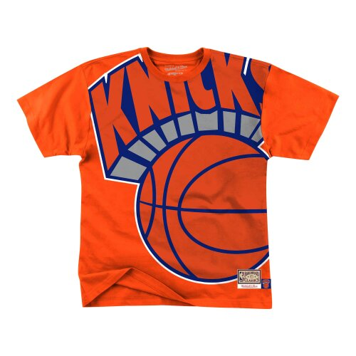Mitchell & Ness NBA Big Face Tee New York Knicks orange