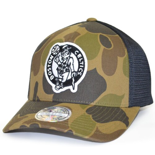 Mitchell & Ness NBA Duck Camo 110 Snapback Boston Celtics