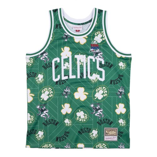 Mitchell & Ness Tear Up Pack Swingman Jersey Boston Celtics pattern