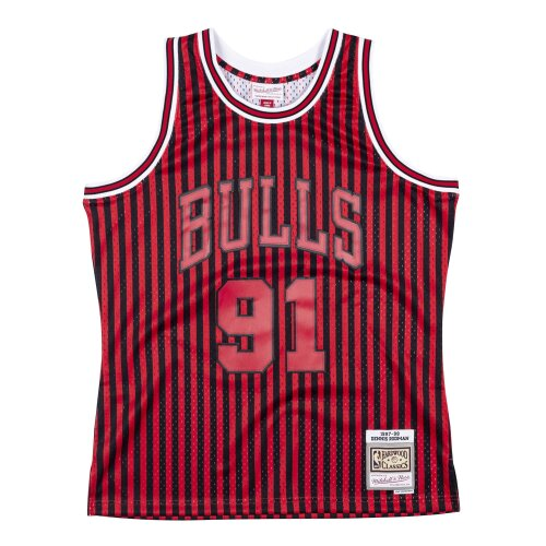 Mitchell & Ness NBA Striped Swingman Jersey Chicago Bulls Rodman