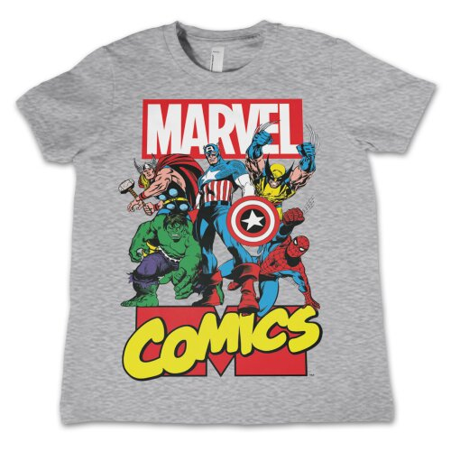 Marvel Comics Heroes Kids T-Shirt heather grey