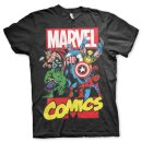 Marvel Comics Heroes Kids T-Shirt black