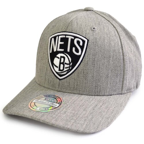 Mitchell & Ness NBA Black White Logo Snapback 110 Brooklyn Nets grey