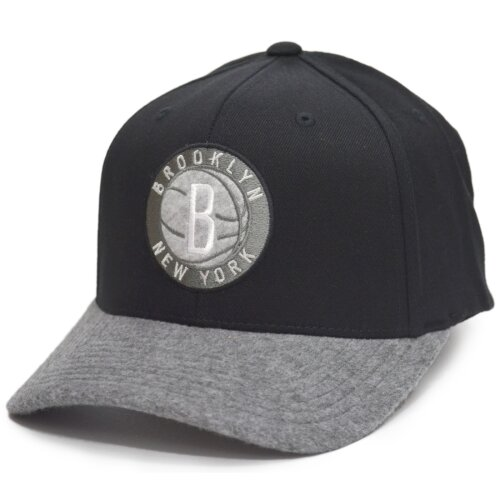 Mitchell & Ness NBA Greytone Fleece 110 Snapback Brooklyn Nets black/grey