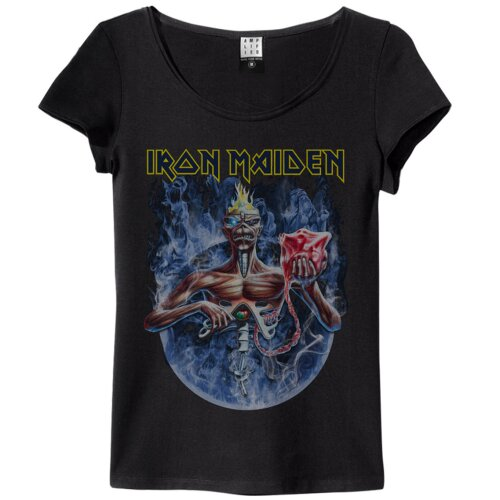 Amplified Girl Shirt Iron Maiden Seventh Son Of A Seventh Son Circle