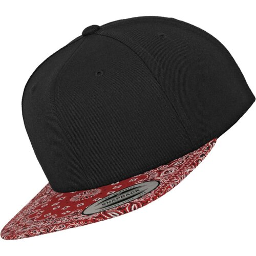 Snapback Bandana black/red