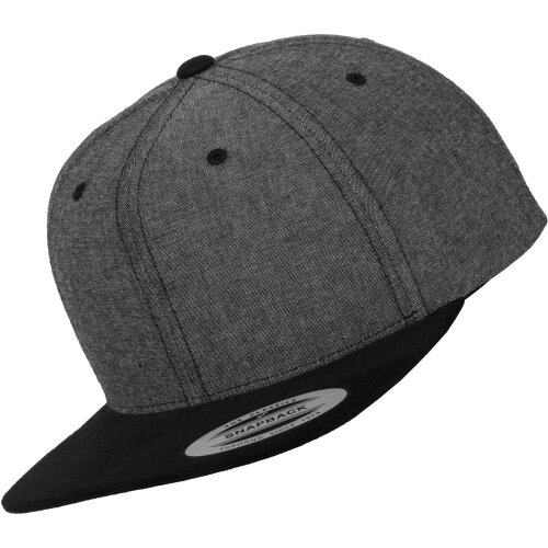 Snapback Chambray suede black/black
