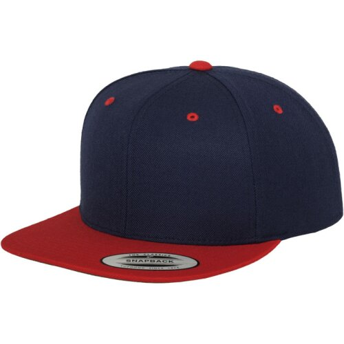 Classic 2 tone Snapback navy/red