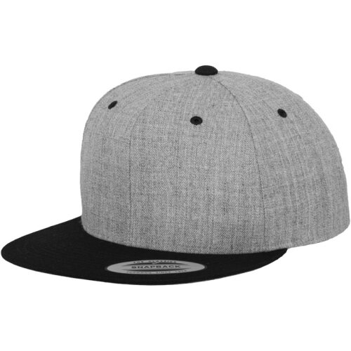 Classic 2 tone Snapback heather/black