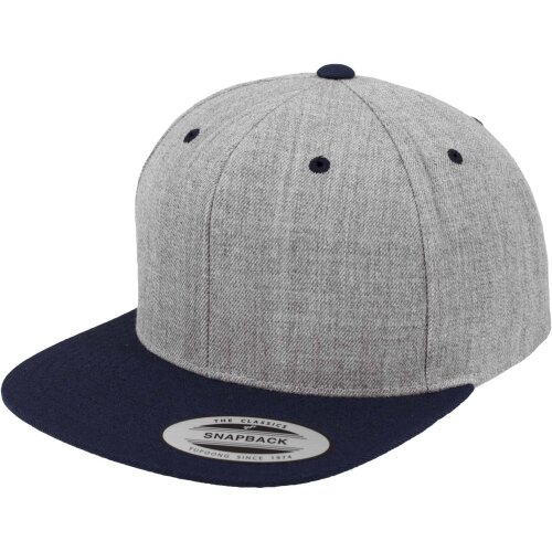 Yupoong Classic 2 tone Snapback heather/navy