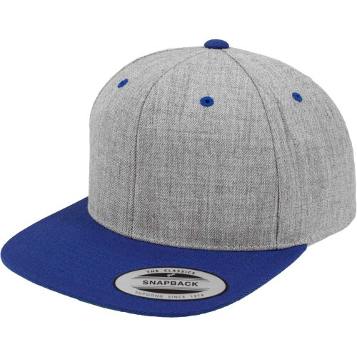 Yupoong Classic 2 tone Snapback heather/royal
