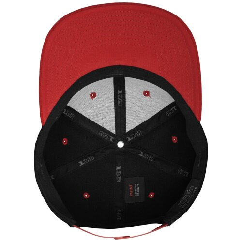 Yupoong Flexfit 110 Fitted Snapback Cap black/red