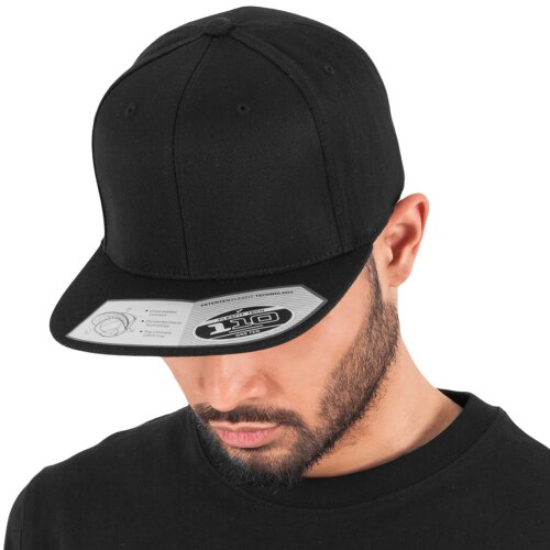 Yupoong Flexfit 110 Fitted Snapback Cap black ... 60e50dd4a52
