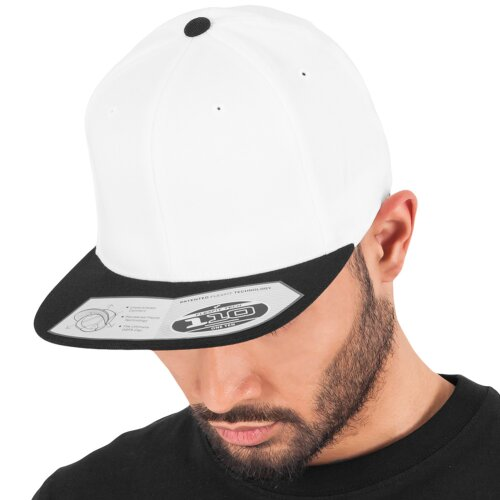 Yupoong Flexfit 110 Fitted Snapback Cap white/black