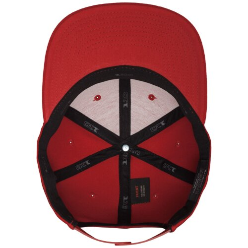 Yupoong Flexfit 110 Fitted Snapback Cap red