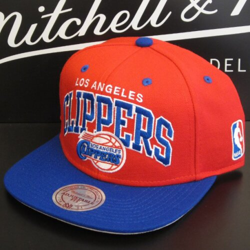 Mitchell & Ness LA Clippers Team Arch 2tone red/royal Cap