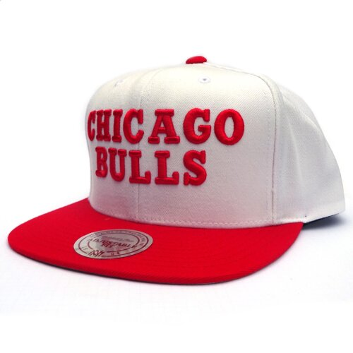 Mitchell & Ness Snapback Chicago Bulls Throwback white/red