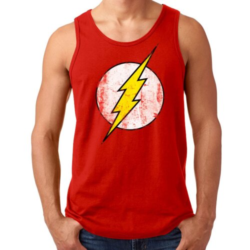 The Flash Tank Top distressed Logo