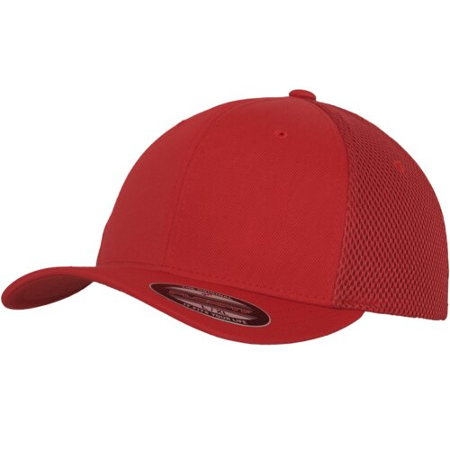 Yupoong Flexfit Tactel Mesh Trucker Cap red